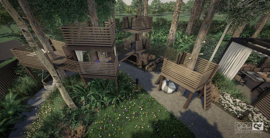 ogród pod lasem - plac zabaw 4