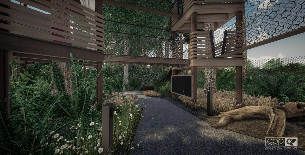ogród pod lasem - plac zabaw 2