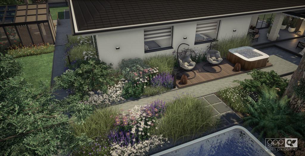 ogród pod lasem - kadr 1