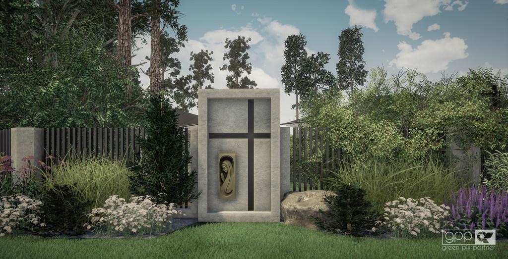 ogród pod lasem - kapliczka