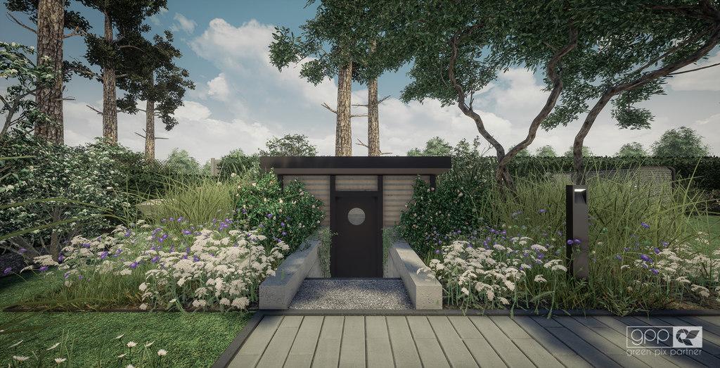ogród pod lasem - ziemianka